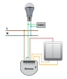 installation fibaro dimmer 254x300 fibaro universal dimmer sensor control your lights fibaro dimmer 2 wiring diagram at crackthecode.co